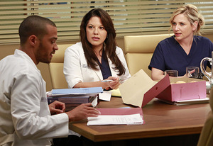 Jessie Williams, Sara Ramirez, Jessica Capshaw | Photo Credits: Ron Tom/ABC