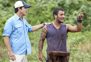 Jeff Probst and Brandon Hantz | Photo Credits: Monty Brinton/CBS