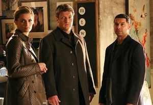 Stana Katic, Nathan Fillion, Jon Huertas | Photo Credits: Richard Cartwright