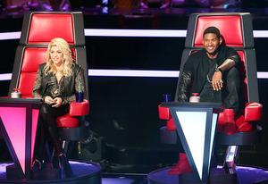 Shakira and Usher | Photo Credits: Adam Taylor/NBC