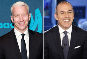 Anderson Cooper, Matt Lauer | Photo Credits: Charles Eshelman/FilmMagic; NBC Newswire/Getty Images