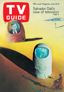 TV Guide Magazine cover by Salvador Dali | Photo Credits: TV Guide Magazine cover by Salvador Dali