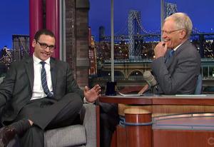 A.J. Clemente, David Letterman | Photo Credits: CBS