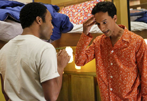 Donald Glover and Danny Pudi | Photo Credits: Vivian Zink/NBC