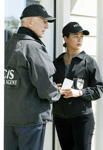 Mark Harmon and Cote de Pablo | Photo Credits: Cliff Lipson/CBS.