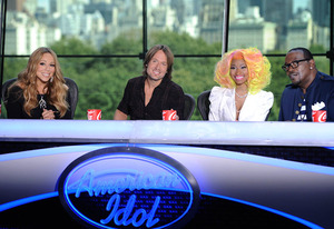 Mariah Carey, Keith Urban, Niki Minaj, Randy Jackson | Photo Credits: Michael Becker/ FOX