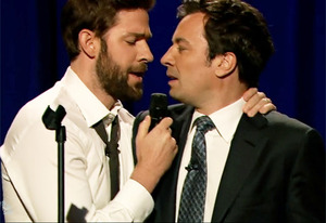 John Krasinski and Jimmy Fallon | Photo Credits: NBC