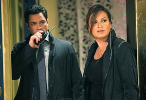 Danny Pino and Mariska Hargitay | Photo Credits: Eric Leibowitz/NBC