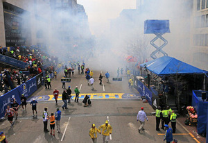 2013 Boston Marathon finish line | Photo Credits: Boston Globe/Getty Images