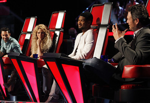Adam Levine, Shakira, Usher, Blake Shelton | Photo Credits: Trae Patton/NBC