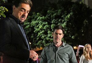 Joe Mantegna, Thomas Gibson, A.J. Cook | Photo Credits: Robert Voets/CBS