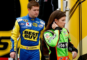 Ricky Stenhouse, Jr. and Danica Patrick | Photo Credits: Chris Graythen/Getty Images Sport