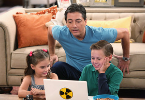 Bailey Michelle Brown, Scott Baio, Jackson Brundage | Photo Credits: Evans Ward/Nickelodeon