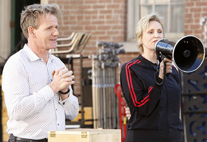 Gordon Ramsay and Jane Lynch | Photo Credits: Greg Gayne / FOX