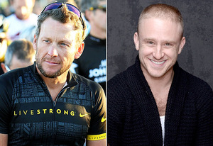 Lance Armstrong, Ben Foster | Photo Credits: Gary Miller/FilmMagic, Jeff Vespa/WireImage
