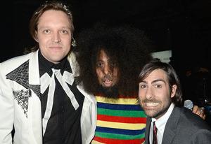 Win Butler of Arcade Fire, Reggie Watts, Jason Schwartzman | Photo Credits: Jeff Kravitz/Filmmagic for YouTube