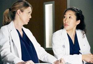 Ellen Pompeo and Sandra Oh | Photo Credits: Richard Cartwright/ABC via Getty Images