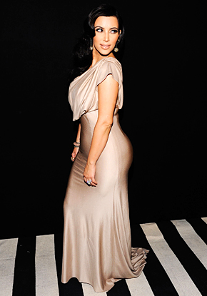 Kim Kardashian Dons Slinky Nude Victoria Beckham Dress For NYC Bash