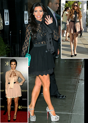 Kim Kardashian Copies Her Sisters' Bargain Style