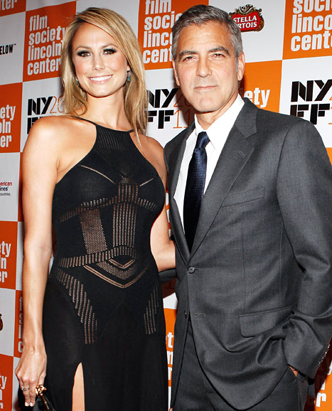 Hot! George Clooney, Stacy Keibler Make Red Carpet Debut as Couple