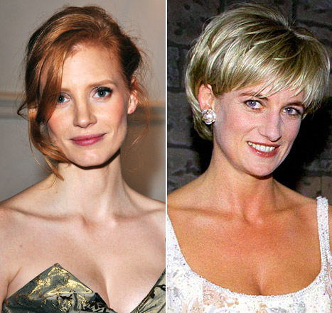 The Help's Jessica Chastain to Play Princess Diana?