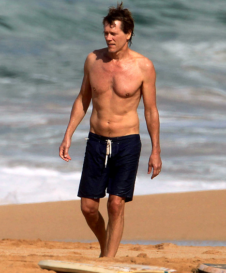 Whoa! Kevin Bacon, 53, Reveals Incredibly Fit Beach Body
