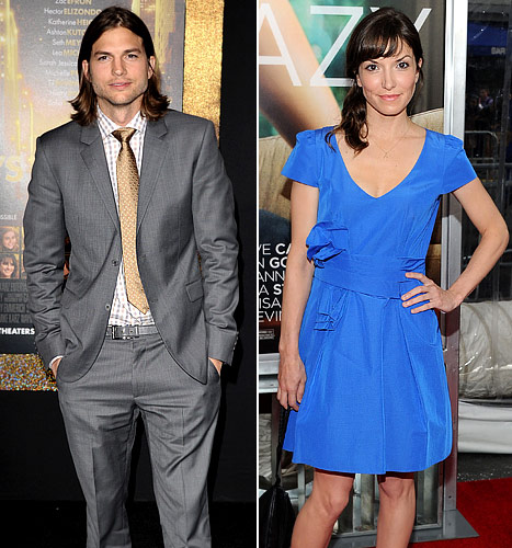 Ashton Kutcher, New Love Lorene Scafaria Go on Laser Tag Date