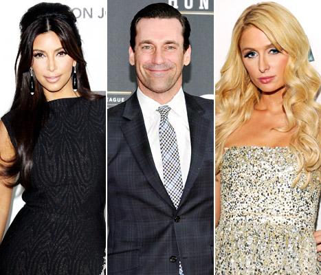 Jon Hamm Slams Kim Kardashian, Paris Hilton