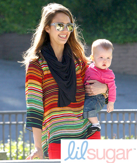 Jessica Alba: I Wear Scarves to Cover Up Puke Stains!