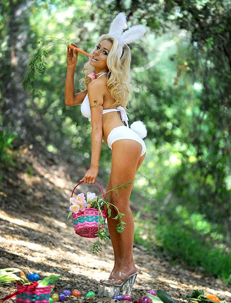 Courtney Stodden Dons Skimpy Lingerie, Hooker Heels for Easter Egg Hunt