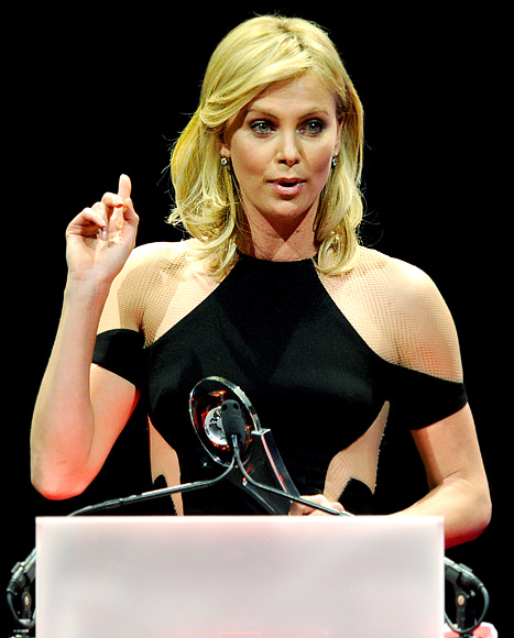 """Charlize Theron Jokes: """"I Should Have Gotten a Boob Job 10 Years Ago"""""""