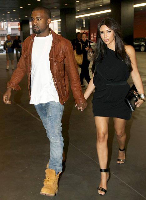 Kim Kardashian, Kanye West Hold Hands on Broadway Date