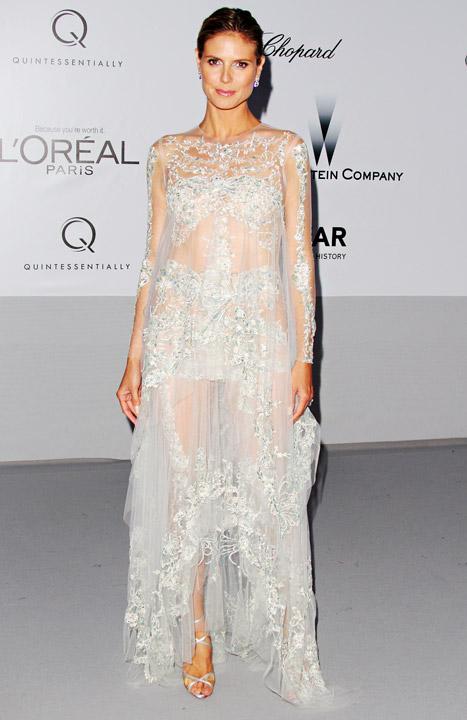 Heidi Klum Auctions Off Massage, Watch at Star-Studded amfAR Gala