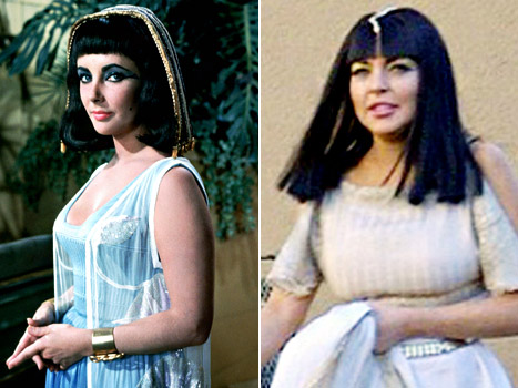 PIC: See Lindsay Lohan as Elizabeth Taylor in Cleopatra