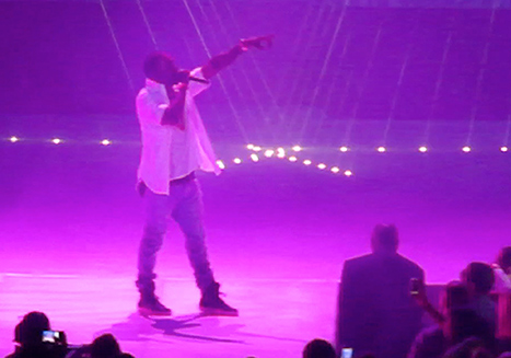 Aww! Kanye West Serenades Kim Kardashian at Concert