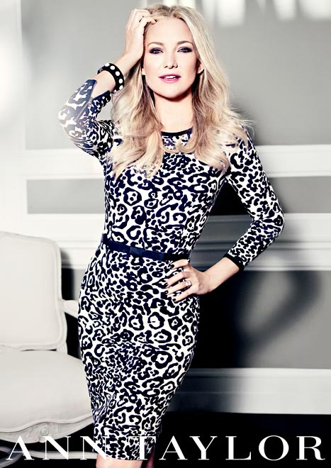 Kate Hudson Flaunts Teeny Waist in New Ann Taylor Ad Campaign