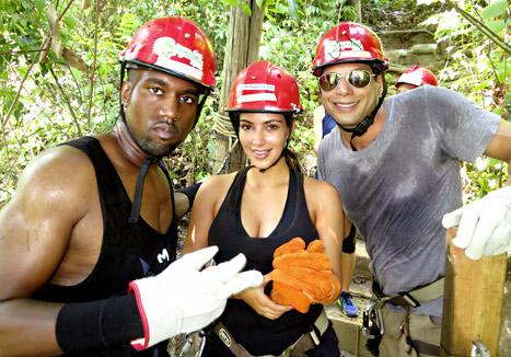 Kim Kardashian, Kanye West Go Ziplining in Mexico