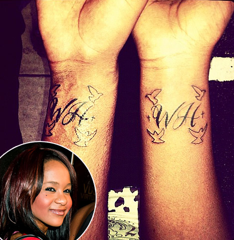 Whitney Houston Remembered: Bobbi Kristina Gets Mom's Initials Tattooed on Wrist