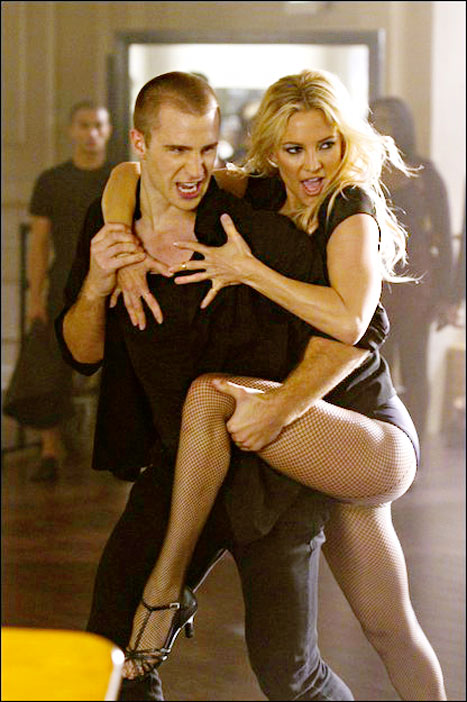 Kate Hudson Wraps Sexy Legs Around Hunky Model in Glee Promo Pic