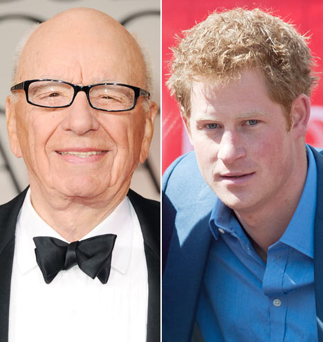 "Prince Harry Nude Photos: Rupert Murdoch Says ""Give Him a Break"""