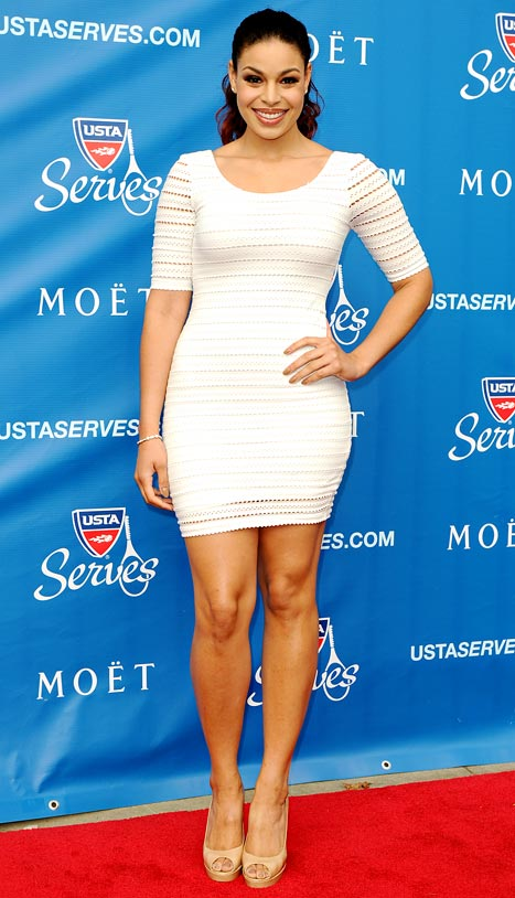 PIC: Jordin Sparks Shows Off 50-Pound Weight Loss in Formfitting White Dress at U.S. Open Gala