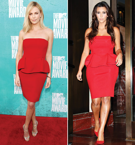 Who Wore It Best: Charlize Theron or Kim Kardashian?