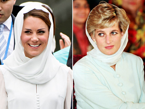 PIC: Kate Middleton in Headdress Echoes Iconic Princess Diana Photo
