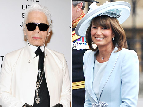 """Karl Lagerfeld: Carole Middleton Is """"Sexier Than Her Daughters"""" Kate and Pippa"""