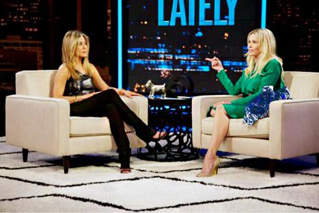 "Chelsea Handler Mocks Jennifer Aniston's ""Very Pronounced"" Nipples"