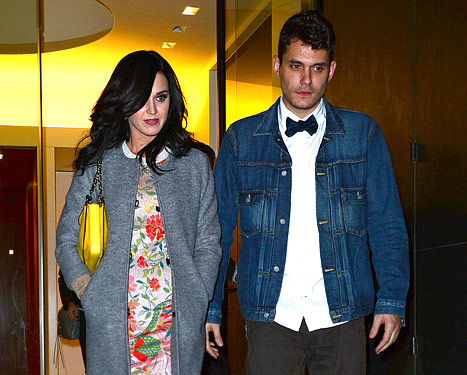 """Katy Perry, John Mayer """"So Affectionate"""" at Pal's Star-Studded Bash"""