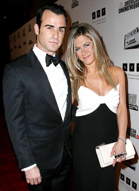 Jennifer Aniston, Justin Theroux Honor Pal Ben Stiller at Cinematheque Awards