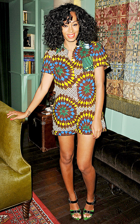 Write a Fashion Police Caption for Solange Knowles