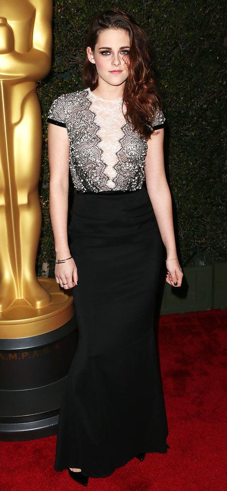 Kristen Stewart Wears Elegant Dress to 4th Annual Governors Awards