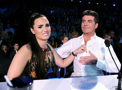 Demi Lovato, Simon Cowell Bicker on X Factor: Contestants React!